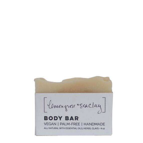 Wild Wash Soap Lemongrass with Sea Clay Vegan Soap Body Bar