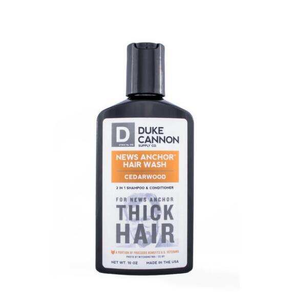 Duke Cannon News Anchor 2-in-1 Hair Wash - Cedarwood