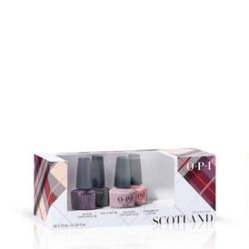 OPI Scotland Collection Good Girls Gone Plaid 4-pack Mini Nail Lacquer Set