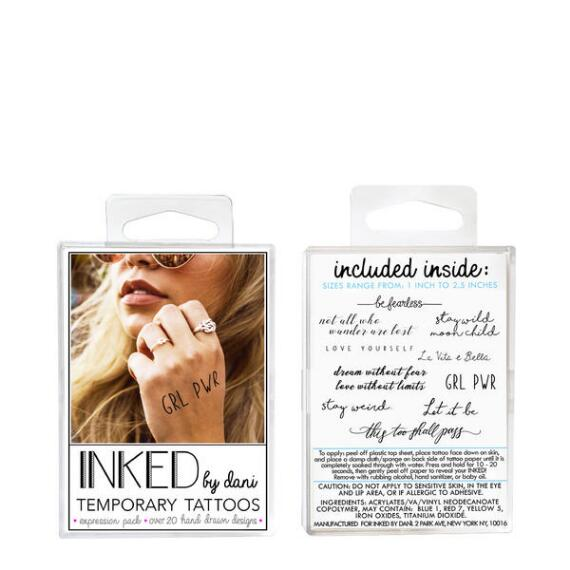 INKED by Dani Expressions Temporary Tattoos Pack