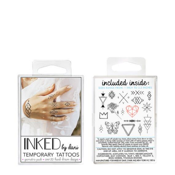 INKED by Dani Geometric Temporary Tattoos Pack