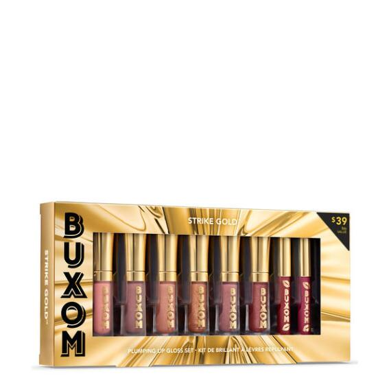 Buxom Strike Gold Plumping Lip Gloss Set