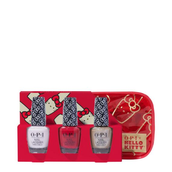 OPI Hello Kitty Holiday Nail Lacquer Trio + Cosmetic Bag