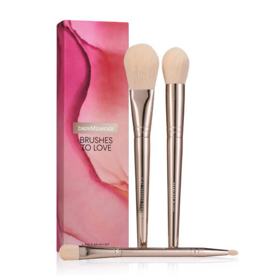bareMinerals Brushes to Love: 3-PC Limited Edition Brush Trio