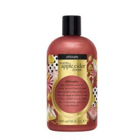 philosophy warm apple cider donut shampoo, shower gel & bubble bath