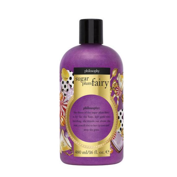 philosophy sugar plum fairy shampoo, shower gel & bubble bath