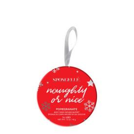 Spongelle Naughty or Nice Holiday Ornament Buffer - Pomegranate
