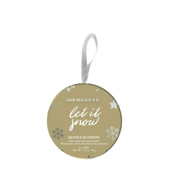 Spongelle Let It Snow Holiday Ornament Buffer - Quince Blossom