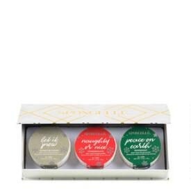Spongelle 3-pc Merry & Bright Ornament Set