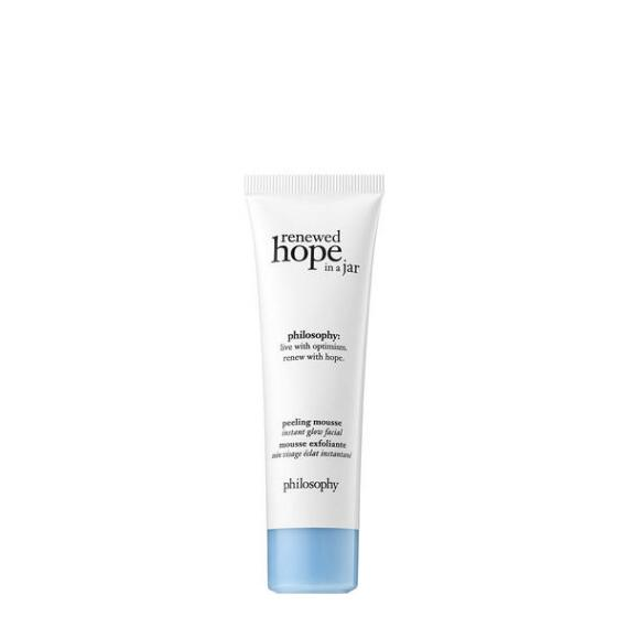 philosophy renewed hope in a jar peeling mousse instant glow facial