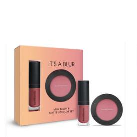 bareMinerals It s a BlurMini Blush & Matte Lipcolor Set