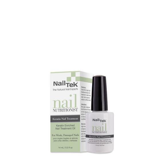 Nail Tek Nail Nutritionist Keratin Oil Nail Treatment for Weak, Damaged Nails