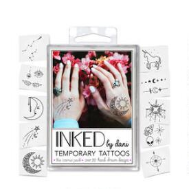 INKED by Dani Cosmic Temporary Tattoos Pack