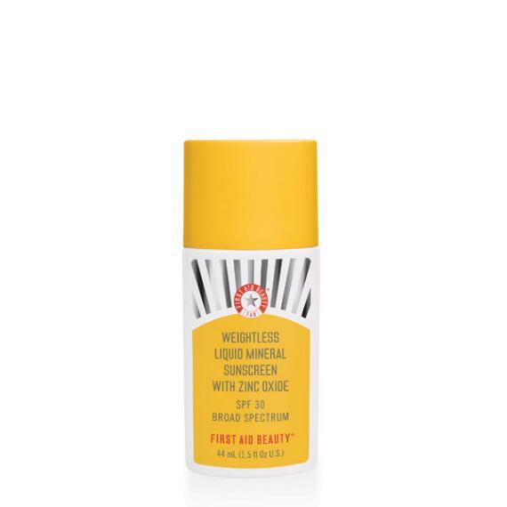 First Aid Beauty Weightless Liquid Mineral Sunscreen with Zinc Oxide SPF 30 Broad Spectrum