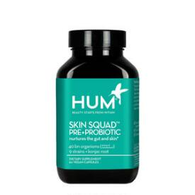 HUM Nutrition Skin Squad Pre + Probiotic Clear Skin Supplement