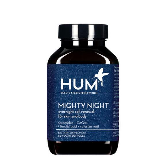 HUM Nutrition Mighty Night Overnight Renewal Supplement