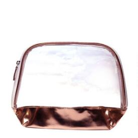 Beauty Brands Rose Gold Cosmetic Bag