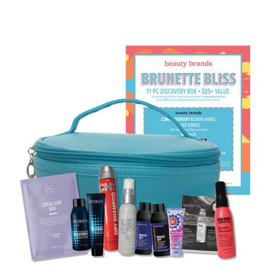 Beauty Brands Brunette Bliss 11-pc Discovery Bag