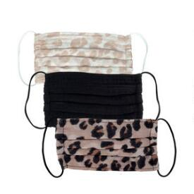 Kitsch Leopard 3-Pack Cotton Face Masks