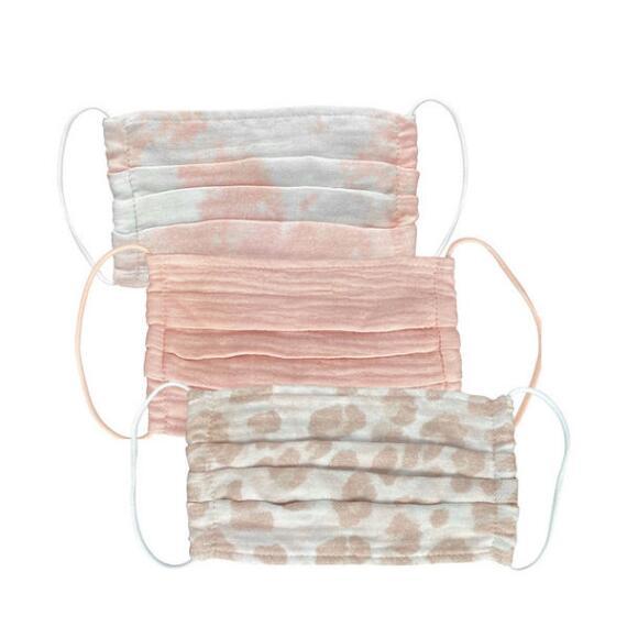 Kitsch Blush 3-Pack Cotton Face Masks