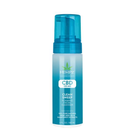 Hempz CBD Clean Sweep Foaming Facial Cleanser