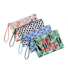 Tickled Pink Cosmetic Wristlet
