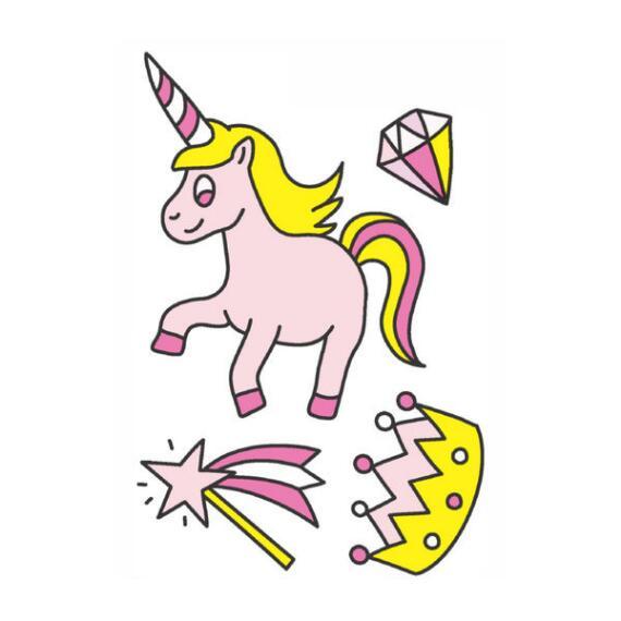 Nailmatic Kids Princess Unicorn Temporary Tattoos