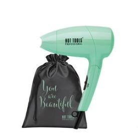 Hot Tools Lightweight Mint Mini Ionic Travel Hair Dryer