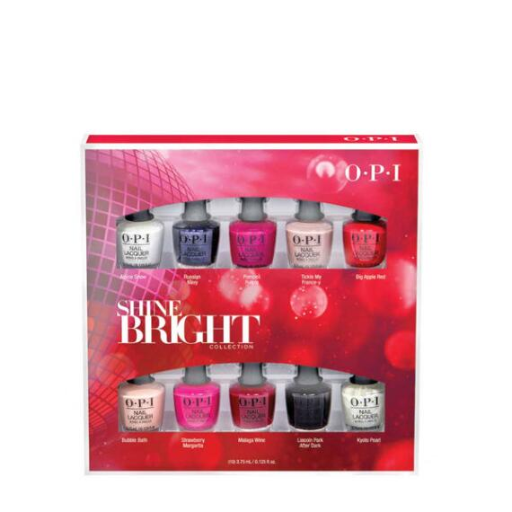 OPI Shine Bright Holiday Collection 10-pc Mini Nail Lacquer Set