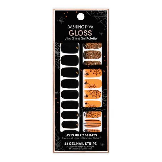 Dashing Diva Ultra-Shine Gloss Shine Gel Nail Strips Halloween Edition