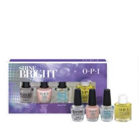 OPI Shine Bright Holiday Collection 4-pc Mini Treatments Set