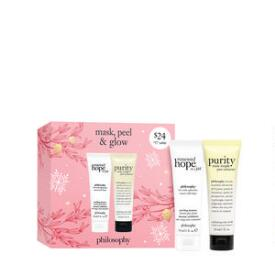 philosophy mask peel & glow 2-pc masking set