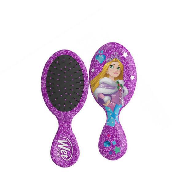 The Wet Brush Disney Glitter Holiday Collection Mini Original Detangler Brush - Rapunzel
