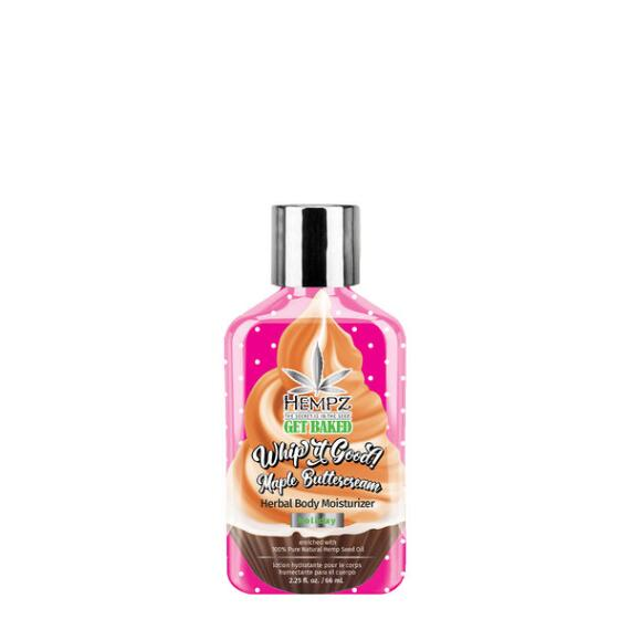 Hempz Holiday Limited Edition Whip It Good! Maple Buttercream Herbal Body Moisturizer Travel Size