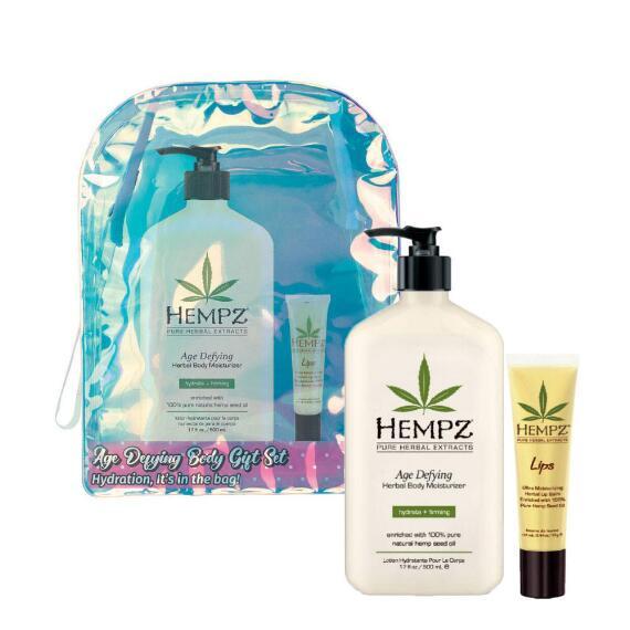 Hempz Holiday Limited Edition 2-pc Age Defying Herbal Body Moisturizer & Lip Balm Set