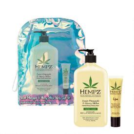 Hempz Holiday Limited Edition 2-pc Sweet Pineapple & Honey Melon Herbal Body Moisturizer & Lip Balm Set
