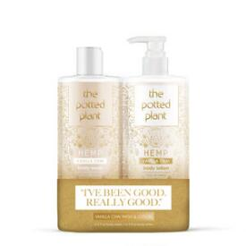 The Potted Plant Vanilla Chai Moisturizer & Shower Gel Duo