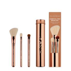 Sigma Beauty Essential Trio Brush Set in Rose Gold