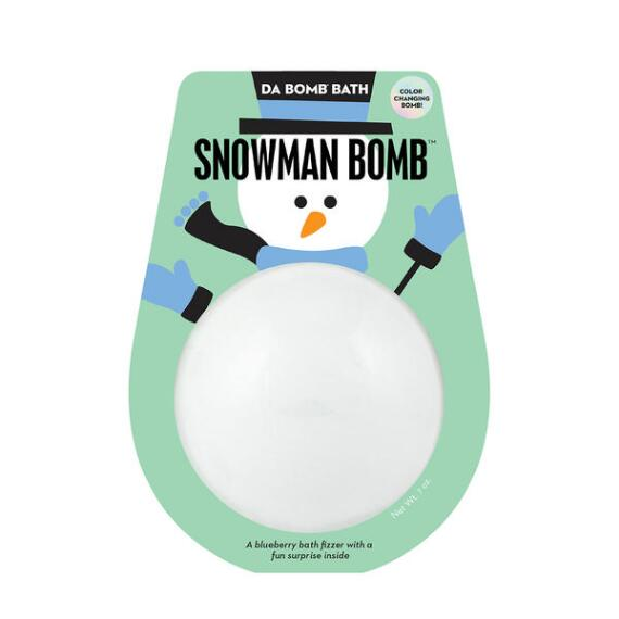 Da Bomb Holiday Color Changing Snowman Bath Bomb