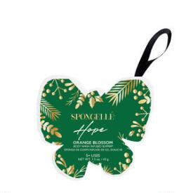 Spongelle Hope Butterfly Holiday Ornaments - Orange Blossom