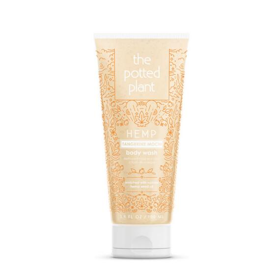 The Potted Plant Tangerine Mochi Hemp-Enriched Herbal Body Wash Travel Size