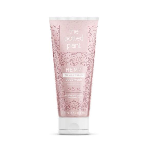 The Potted Plant Plums & Cream Hemp-Enriched Herbal Body Wash Travel Size