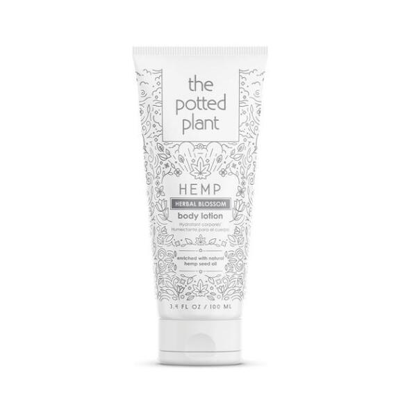 The Potted Plant Herbal Blossom Hemp-Enriched Body Lotion Travel Size