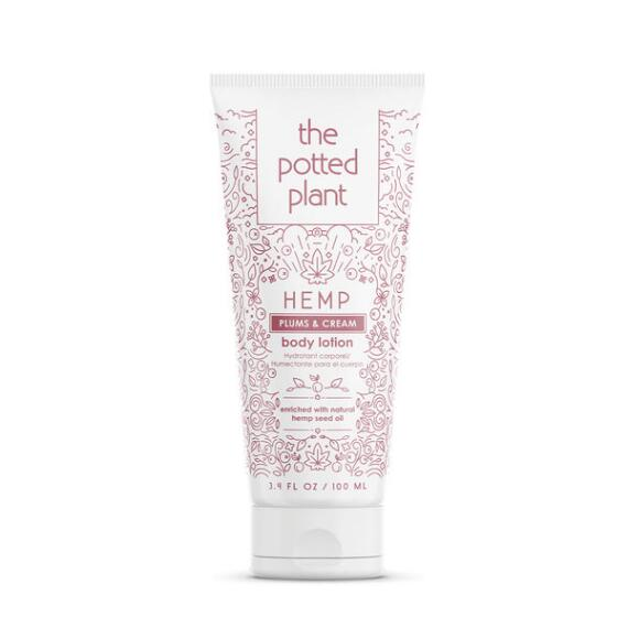 The Potted Plant Plums & Cream Hemp-Enriched Body Lotion Travel Size