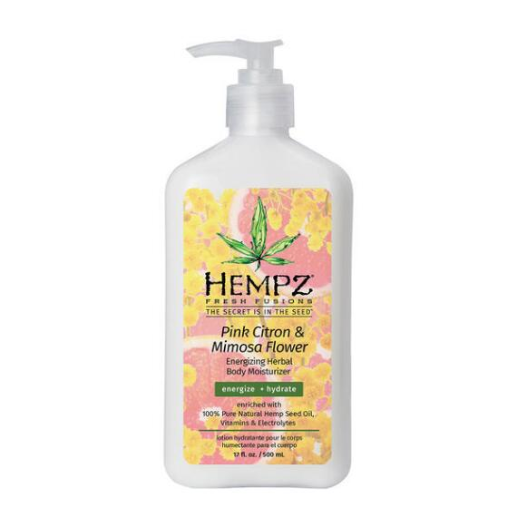 Hempz Fresh Fusions Pink Citron & Mimosa Flower Energizing Herbal Body Moisturizer