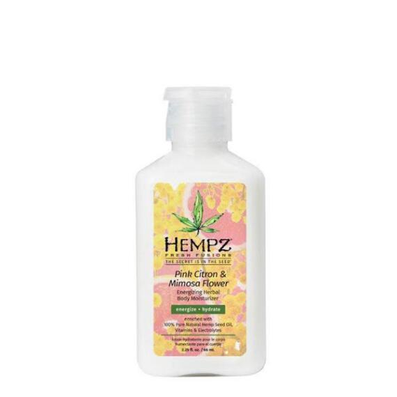 Hempz Fresh Fusions Pink Citron & Mimosa Flower Energizing Herbal Body Moisturizer Travel Size