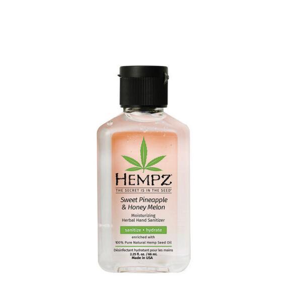 Hempz Sweet Pineapple & Honey Melon Moisturizing Herbal Hand Sanitizer Travel Size