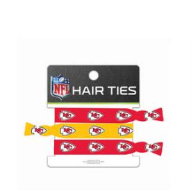NFL Kansas City Chiefs 3 Pack No-Crease Hair Ties