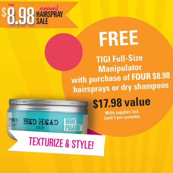 Hairspray Gift with Purchase - TIGI After Party or Manipulator