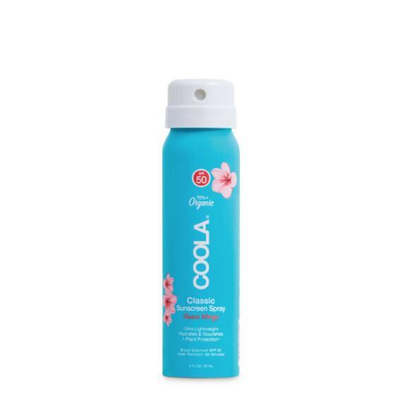 Coola Classic Body Organic Sunscreen Spray SPF 50 Travel Size - Guava Mango
